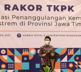 Buka Rakor TKPK, Wagub Emil Ajak Kepala Daerah Gotong Royong Atasi Kemiskinan di Jatim