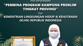 Jatim Raih Penghargaan Proklim 2021